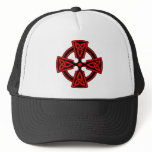 Celtic Cross (red) Trucker Hat