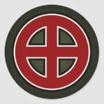 Celtic Cross (red, white & black on green) Classic Round Sticker