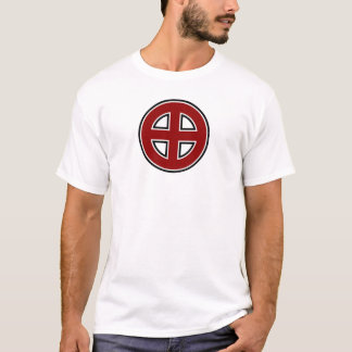 Celtic Cross (red, white & black) T-Shirt