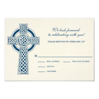 Celtic Cross RVSP Card