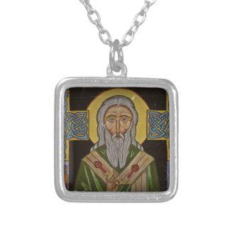 Celtic Cross Saint Patrick Silver Plated Necklace