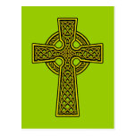 Celtic Cross skelton gold Post Card