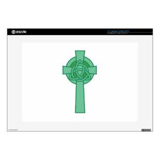 """Celtic Cross Skin For 15"""" Laptop"""