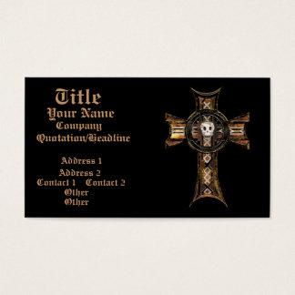 Celtic Cross & Skull (Gold) Business Card