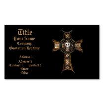 Celtic Cross & Skull (Gold)