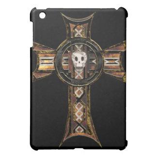 Celtic Cross & Skull (Gold) iPad Mini Cover