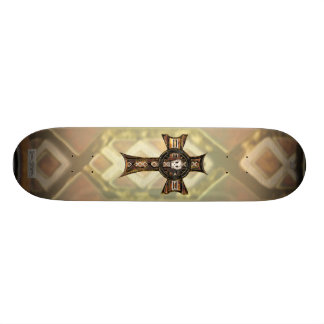 Celtic Cross & Skull (Gold) Skateboard Deck