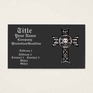 Celtic Cross & Skull (Silver) Business Card