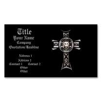 Celtic Cross & Skull (Silver)