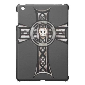 Celtic Cross & Skull (Silver) iPad Mini Covers