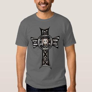 Celtic Cross & Skull (Silver) T Shirt