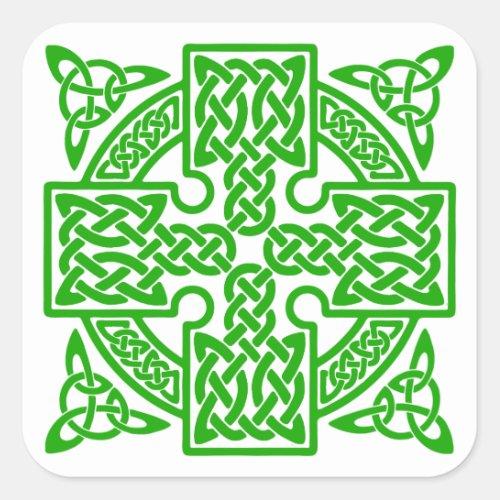 Celtic cross Square Sticker