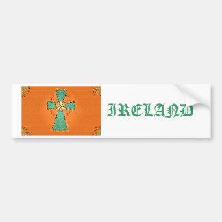 Celtic Cross Stained Glass bumper sticker