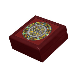 Celtic cross steel and leather jewelry box