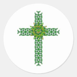 Celtic Cross Classic Round Sticker
