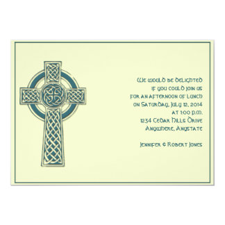 Celtic Cross Teal and Mythic Ivory Party Invite