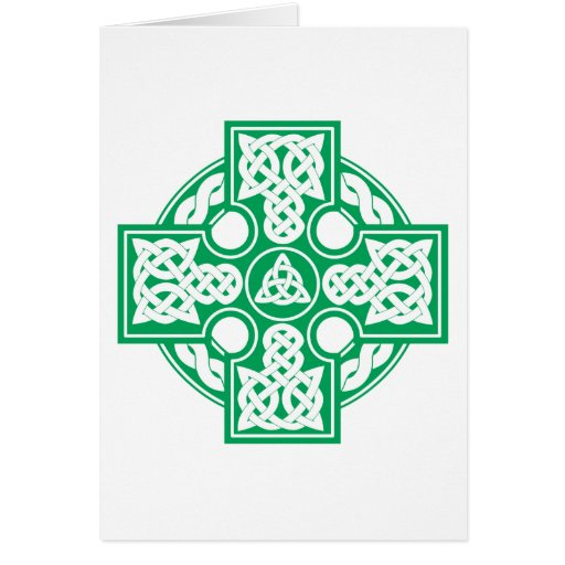 Celtic cross v2 greeting card