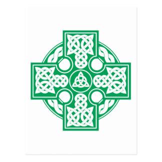 Celtic cross v2 postcard