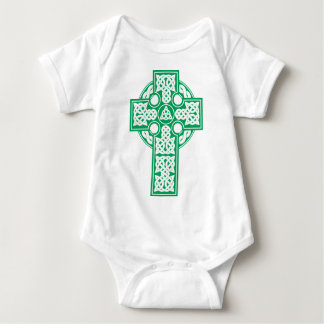 Celtic cross v4 baby bodysuit