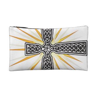 Celtic Cross Vector Cosmetic Bag