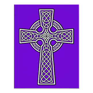 Celtic Cross white and clear Card