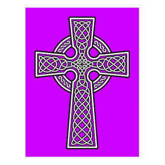 Celtic Cross white and clear Post Card