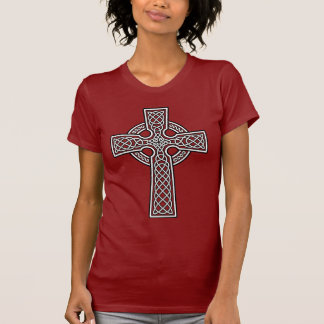 Celtic Cross white and clear Tshirt