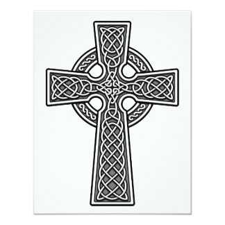 Celtic Cross white and grey Card