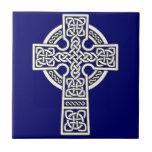 Celtic Cross white Tile