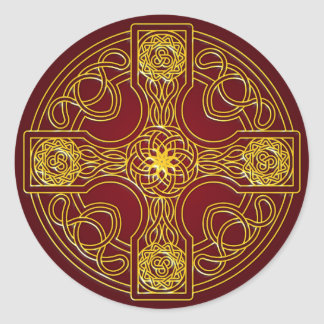Celtic Cross with new style Classic Round Sticker