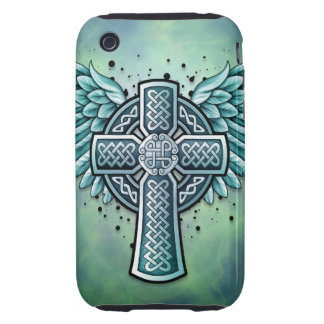 Celtic Cross with Wings iPhone 3 Tough Cover