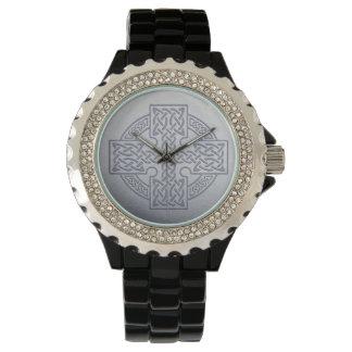 celtic cross wrist watch