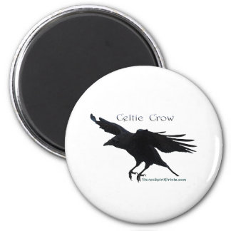 CELTIC CROW Collection 2 Inch Round Magnet