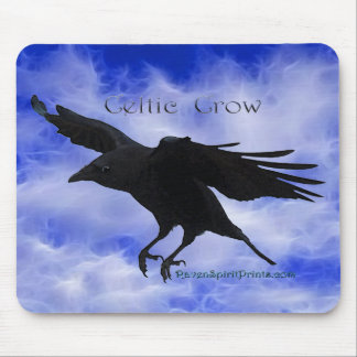CELTIC CROW MOUSE PAD