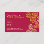 Celtic Curl Swirl Business Card
