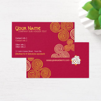 Celtic Curl Swirl Business Card
