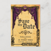 Celtic Curtain Wedding Save the Date invitation