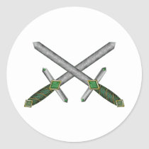 Celtic Daggers Classic Round Sticker