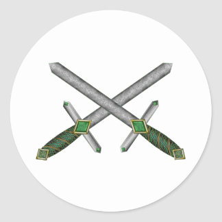 Celtic Daggers Classic Round Sticker