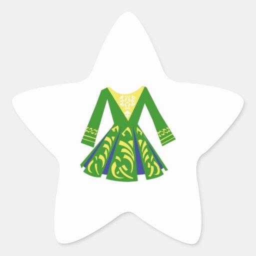 Celtic Dance Dress Star Sticker