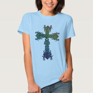 Celtic De Colores Cross Camisas