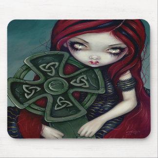 Celtic de hadas gótico extraño solo Mousepad