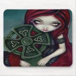 Celtic de hadas gótico extraño solo Mousepad Alfombrillas De Ratón