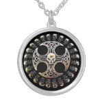 Celtic Death Circle Talisman Silver Plated Necklace