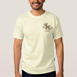 Celtic Deer Embroidered T-Shirt