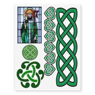 Celtic del día de St Patrick diverso del irlandés Tatuajes Temporales