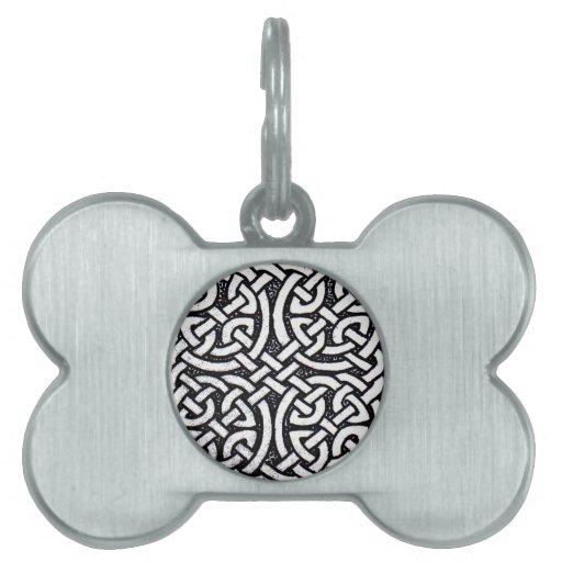 Celtic design 4 pet ID tags
