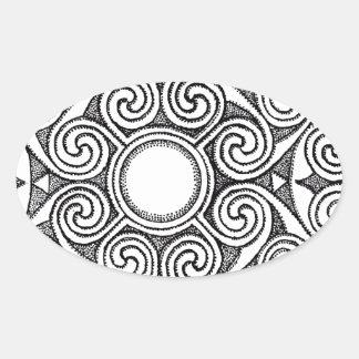 Celtic design 7 oval sticker