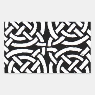 Celtic design 7 rectangular sticker