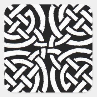 Celtic design 7 square sticker